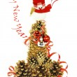 The snowman, the Christmas tree, New year — Stock Photo #55272891