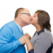 Постер, плакат: Husband kisses his wife