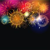 Background with firework — Stock Photo