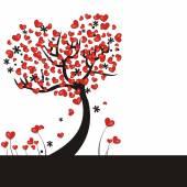 Fundo com corações — Vetorial Stock