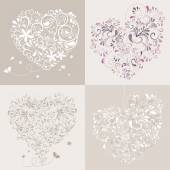 Lovlely background with hearts — Stock Vector
