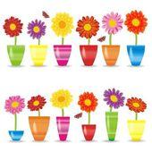 Flores coloridas — Vetor de Stock