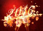 Background with golden firework — Stock Photo