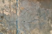 Texture of old crumbling wall with remnants of yellow plaster — Stock Photo