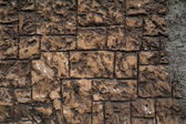 Texture of brown wall covered with coarse decorative plaster — Stock Photo