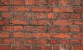 Texture of old red brick wall — Стоковое фото