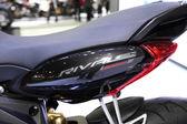 BANGKOK - November 28: Fiber frame of Agusta rivale motorcycle o — Stock Photo