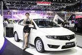 BANGKOK - November 28: Proton Preve car with Unidentified model  — Stock Photo