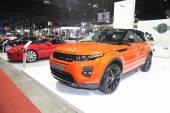BANGKOK - June 24 : Range Rover Evoque car  on display at Bangkok International Auto Salon 2015 on June 24, 2015 in Bangkok, Thailand. — Stock Photo