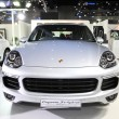 Постер, плакат: BANGKOK August 4: Porsche Cayenne Se hybrid car on display at