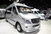 BANGKOK - August 4: Mercedes Benz car modify by Airstream  on di — Stock Photo