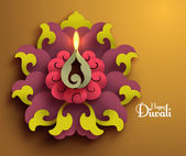 Vector Diwali Diya (Oil Lamp). — Stock Vector