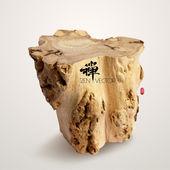 Vector Wooden Log. — Stock Vector
