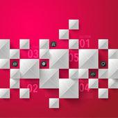 Abstract 3D Paper Sculpture Infographics — Stockvektor