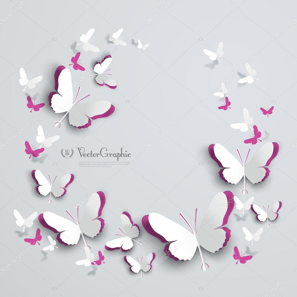 Бабочки объемные на стену своими руками трафарет из бумаги