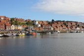 Whitby harbour Yorkshire uk — Stock Photo