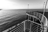 From the wharf of Marina di Massa — Stock Photo