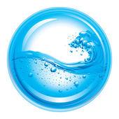 Vector Water Wave Splash — Stock Vector