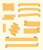 フラットなデザインのバナー セット — ストックベクタ