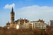 Glasgow University with the modern School of engineering buildin — Stock Photo