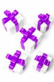 Set of gift boxes with a tape — Stok fotoğraf