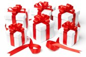 Set of gift boxes with a tape — Stockfoto