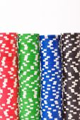Gaming chips. Isolated on white background — Stock Photo