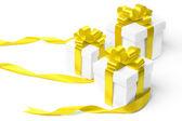 Geïsoleerd van de doos van de gift set — Stockfoto