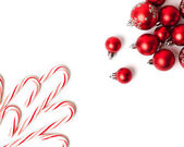 Christmas Decoration. Red Balls And Bells — Foto Stock