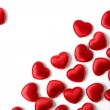 Felt red hearts isolated on a white background — Stock Photo #58479747