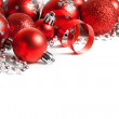 Christmas border with red ornament — Stock Photo #58479833