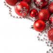 Christmas border with red ornament — Stock Photo #58479837
