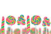 Země fantazie sladké bonbóny, lízátka — Stock fotografie