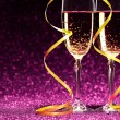 Pair glass of champagne — Stock Photo #69667617