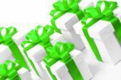Uppsättning presentförpackning isolerade — Stockfoto