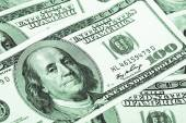 One hundred dollars conceptual background — Stock Photo