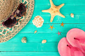 Летние аксессуары и оболочки — Стоковое фото