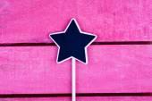 Star shaped blackboard — Stock Photo