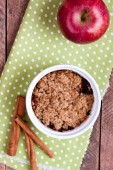 Apfel-crumble — Stockfoto