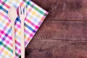 Wooden fork and spoon — Stock Photo