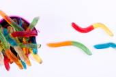 Gummy worm candies — Stock Photo