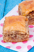 Baklava with walnut — Stock Photo