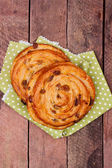Sweet bun with raisin — Stock Photo