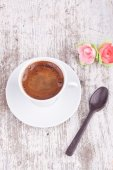 Turkish coffee and spoon — Stock Photo