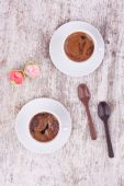 Two cups of Turkish coffee and spoon — Stock Photo