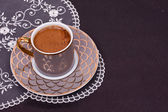 Turkish coffee close up — Stockfoto
