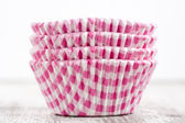 Baking cake cups — Stock Photo
