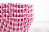 Baking cake cups — Stock Photo