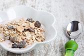 Tasty Muesli with yogurt — Stock Photo