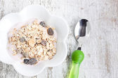 Tasty Muesli with yogurt — Stock Photo